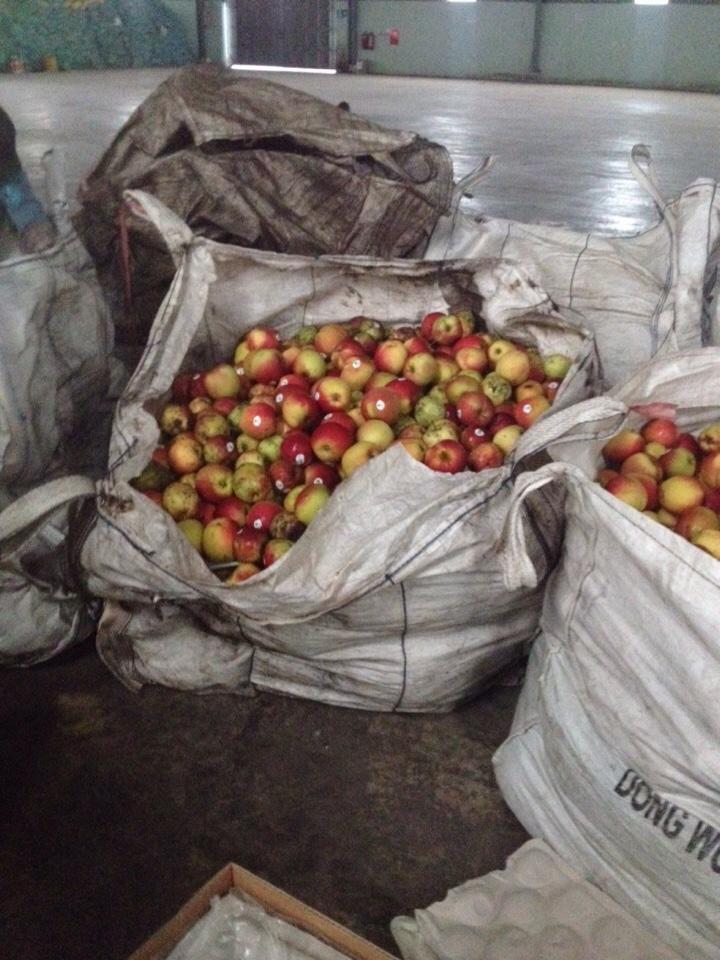 xử lý trái cây, vỏ trái cây