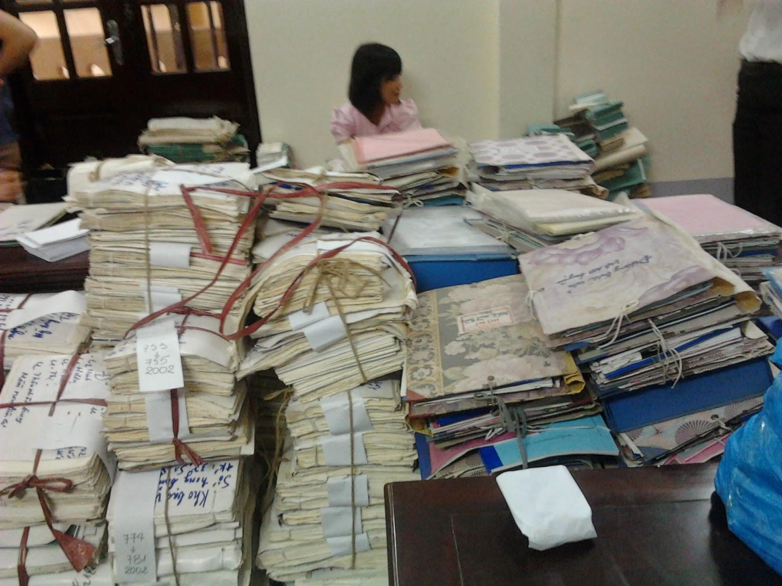 tiêu hủy tài liệu
